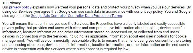 Privacy Policy For Google Adsense Free Privacy Policy