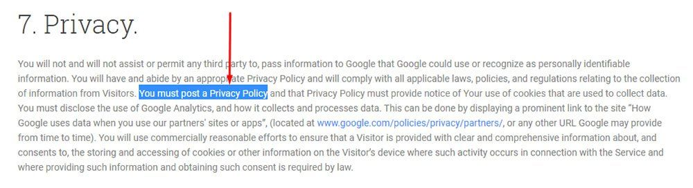 Sample Privacy Policy Template - Free Privacy Policy