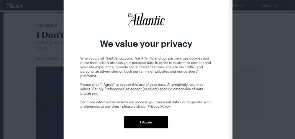The Atlantic Cookies Notice