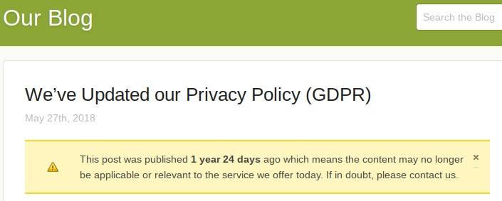 This Web Host Blog: Article for Updated Privacy Policy for GDPR