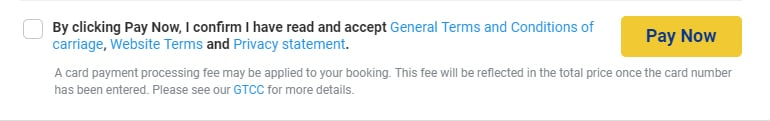 Ryanair checkout page with checkbox