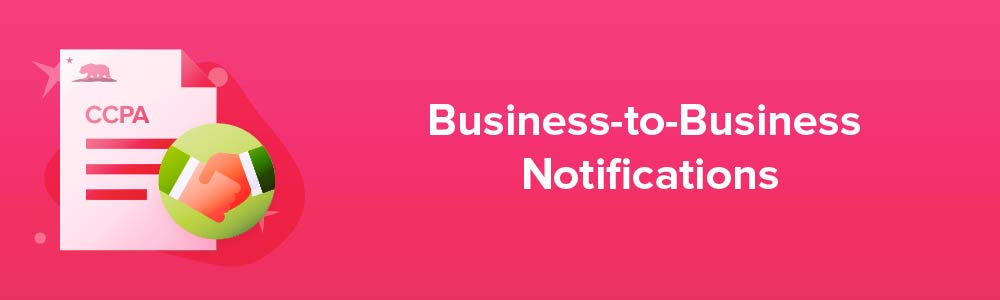 Business-to-Business Notifications