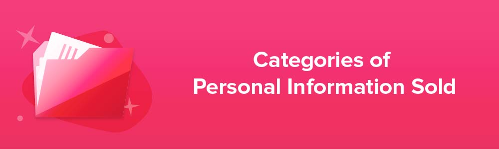Categories of Personal Information Sold