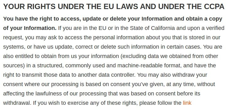 Cellebrite Privacy Notice: Your Rights Under the EU Laws and Under the CCPA clause