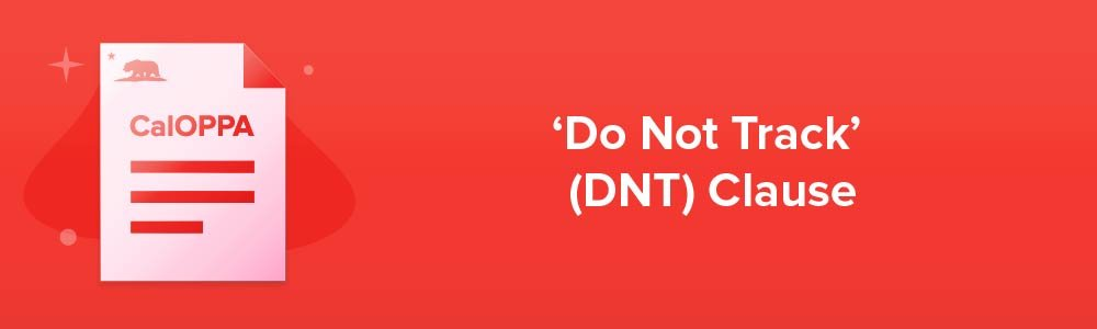 'Do Not Track' (DNT) Clause