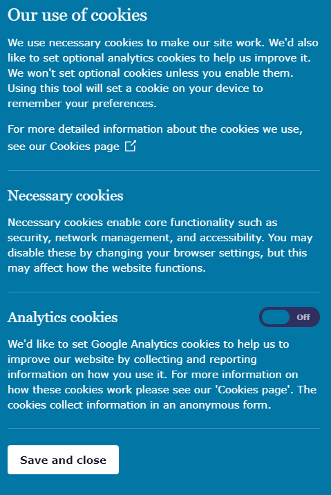 UK ICO Cookie Consent Notice