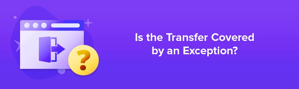 Is the Transfer Covered by an Exception?