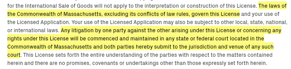 The Learning Corp EULA: Miscellaneous clause - Governing law and jurisdiction excerpt