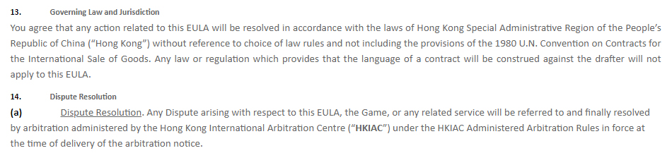 Next Studios Terms of Service: Governing Law and Jurisdiction and Dispute Resolution clauses