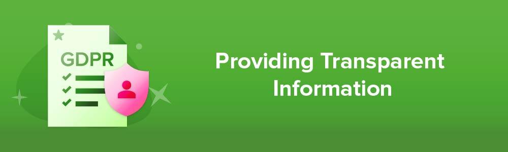 Providing Transparent Information
