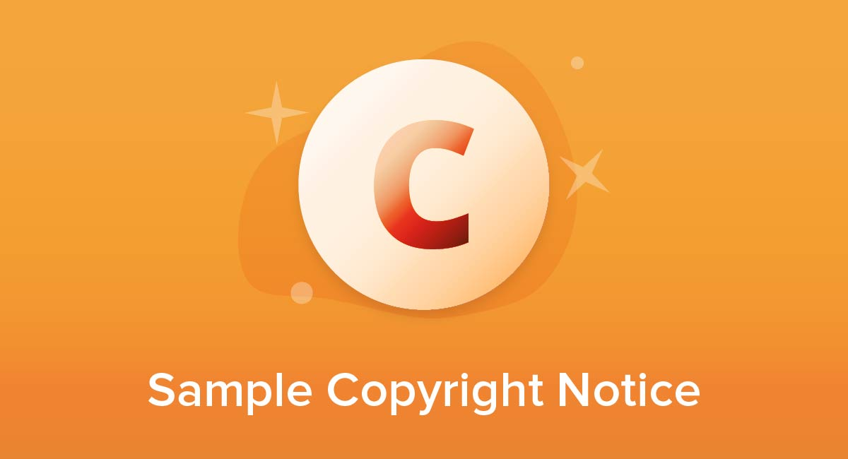 Sample Copyright Notice
