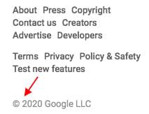 YouTube copyright notice: Example of displaying it in sidebar menu