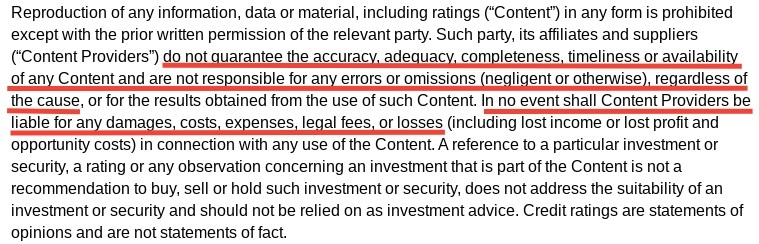 Seeking Alpha Market Data Sources and Disclaimers: Errors and Omissions disclaimer