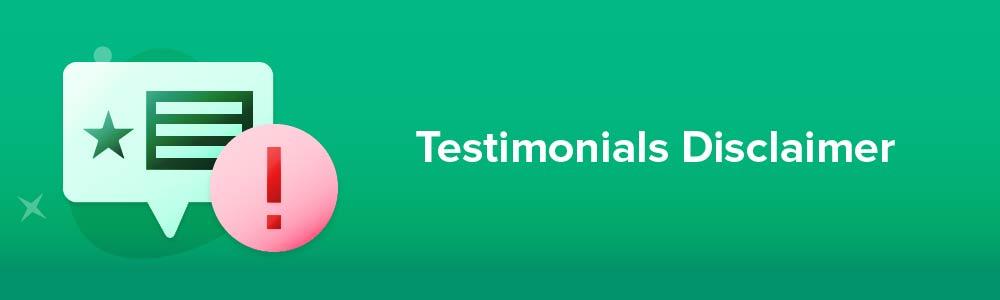 Testimonials Disclaimer