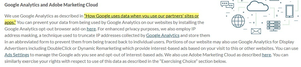 LogMeIn Privacy Policy: Google Analytics and Adobe Marketing Cloud clause