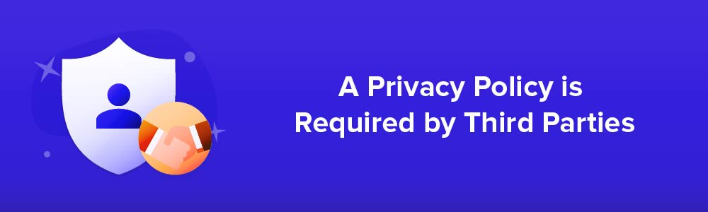 A Privacy Policy is Required by Third Parties