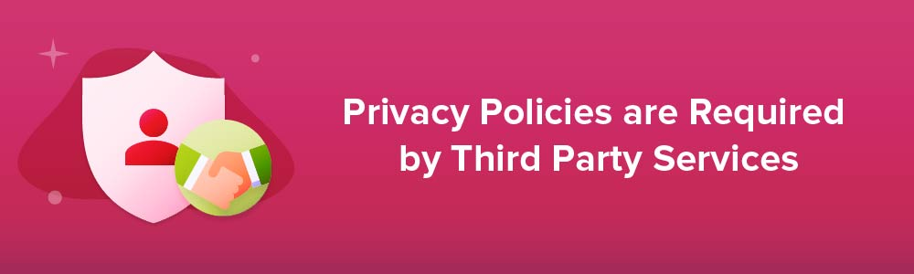 Privacy Policies are Required by Third Party Services