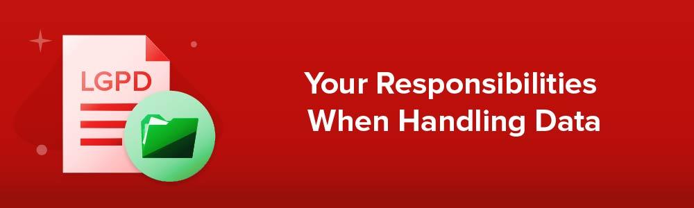 Your Responsibilities When Handling Data