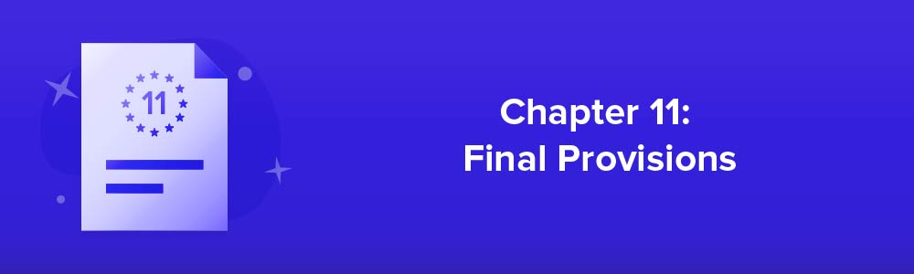 Chapter 11: Final Provisions