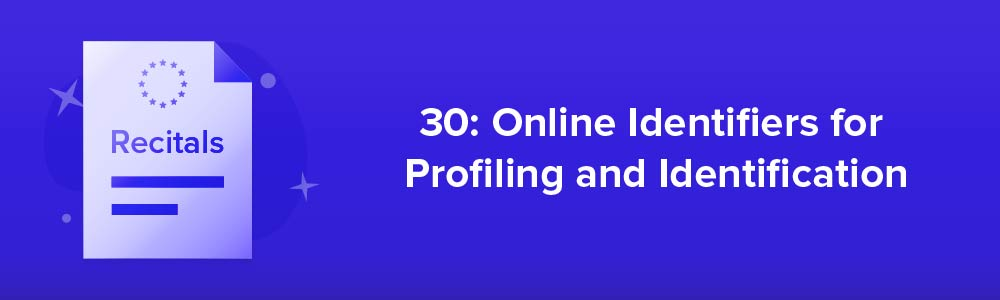 30: Online Identifiers for Profiling and Identification