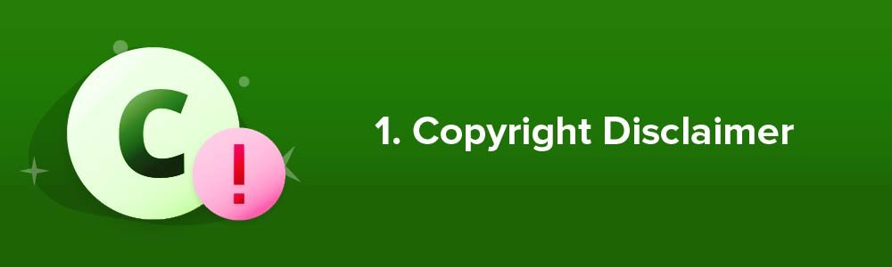 1. Copyright Disclaimer