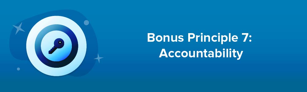Bonus Principle 7: Accountability