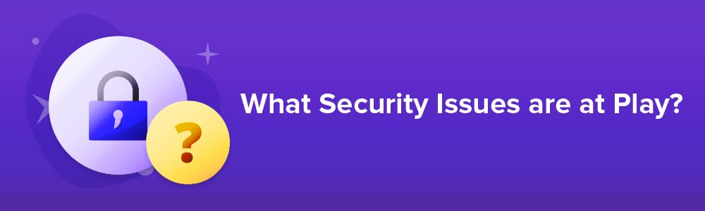 What Security Issues are at Play?