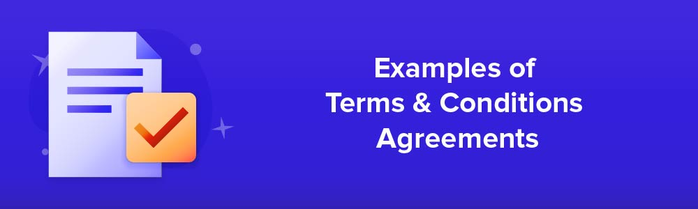 Examples of Terms and Conditions Agreements