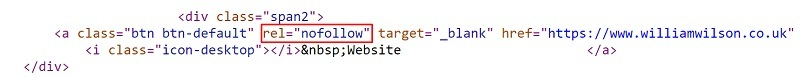Daily Echo page source code with nofollow on William Wilson Bathroom Showroom website link